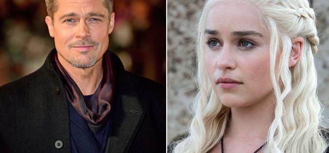 Brad Pitt a oferit o sumă fabuloasă de bani ca să vadă un episod din Game of Thrones alături de protagonista serialului, Emilia Clarke