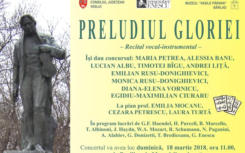 Preludiul Gloriei răsună la Muzeul Vasile Pârvan din Bârlad