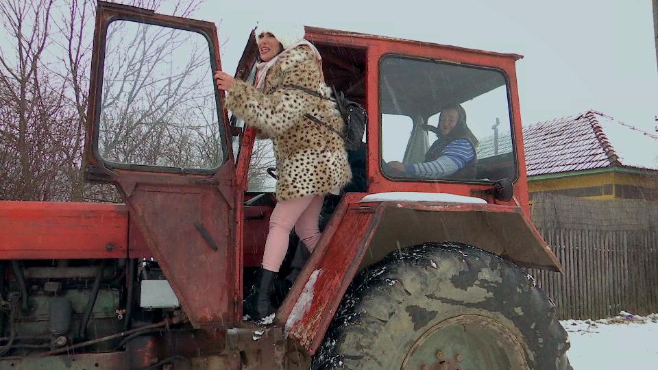 margherita in tractor