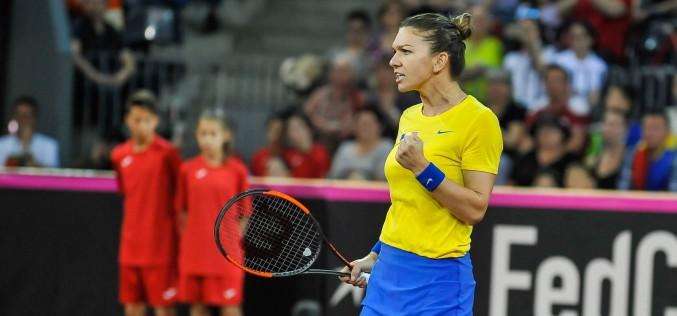 Simona Halep, victorie importantă în Fed Cup. A adus primul punct României în duelul cu Elveţia