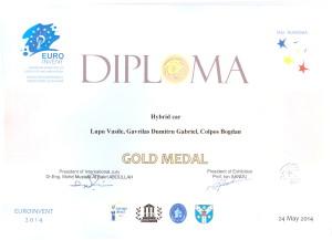 Diploma pentru medalia de aur 4