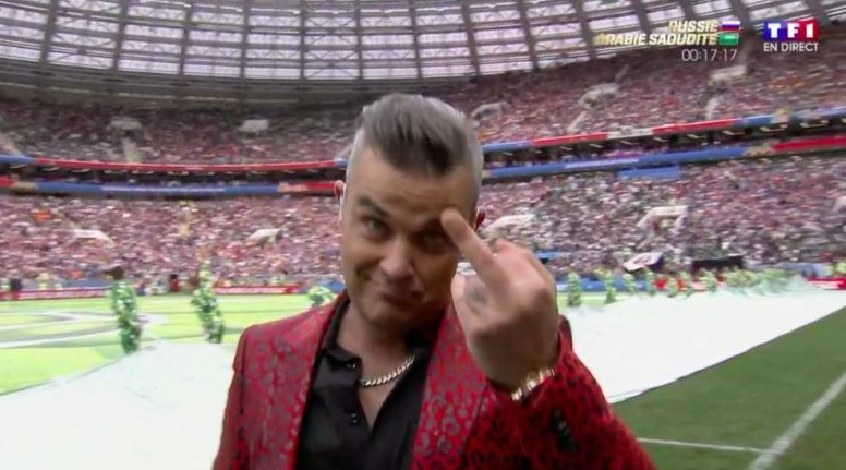 robbie williams - gest socant deschidere mondiale 2018
