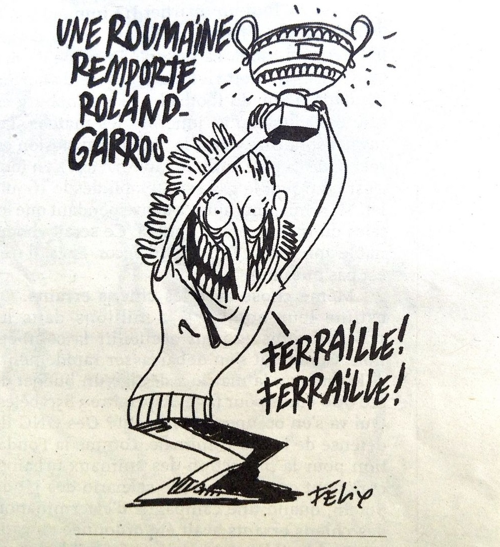 simona halep - caricatura