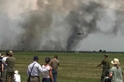 Tragedie aviatică la Feteşti. O aeronavă MiG 21 Lancer s-a părbuşit la un show aviatic la care participau 4000 de persoane