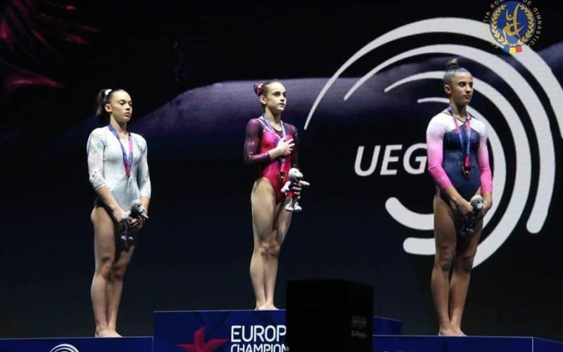 Ioana Stănciulescu, aur la sol la Campionatul European de Gimnastică de la Glasgow