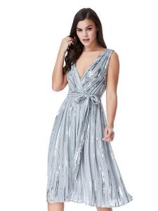 Rochie midi eleganta Aline rochii de nasa 2018 paiete fashion 01