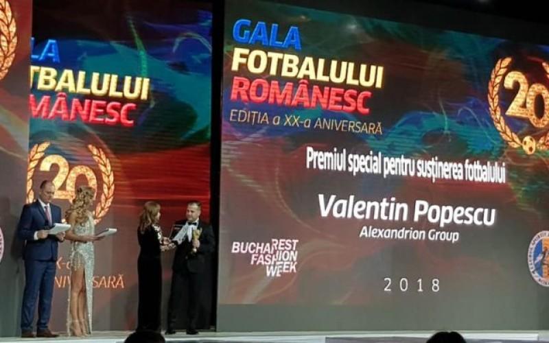 Alexandrion Group a câștigat Premiul Special în cadrul Galei Fotbalului Românesc 2018