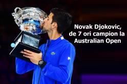 Novak Djokovic a stbilit un record la Australian Open. A cucerit pentru a şaptea oară, competiţia