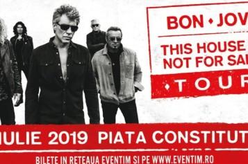 "Jon Bon Jovi încheie la Bucureşti, turneul ""This House Is Not For Sale"""
