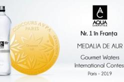 AQUA Carpatica, premiată cu medalia de aur la Concursul Internațional Gourmet Waters