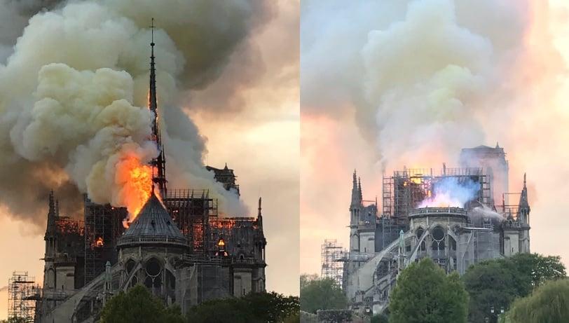 catedrala in flacari paris