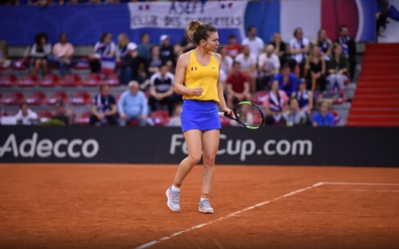 Simona Halep, victorie uriaşă în Fed Cup. A spulberat-o pe Mladenovic la ea acasă
