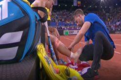 Irina Begu s-a accidentat în setul decisiv în partida cu Pauline Parmentier