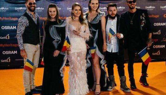 Ester Peony a strălucit la Ceremonia de deschidere a Eurovision 2019