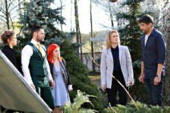 Spiritele se încing în serialul Fructul oprit când Adrian își face apariția în casa Caragea