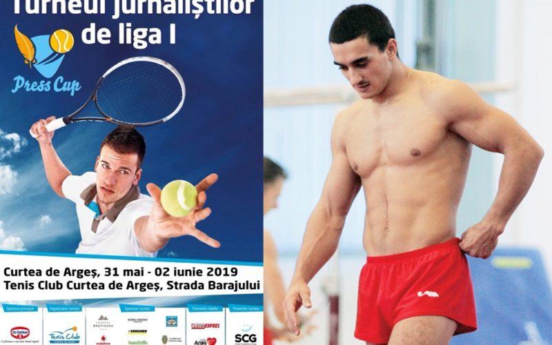 Marian Drăgulescu i-a o pauză de gimnastică şi se apucă de tenis de câmp. Joacă la Cupa Jurnaliştilor