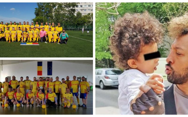 Artiştii şi jurnaliştii joacă un meci demonstrativ pentru a-l ajuta pe fiul lui Kamara