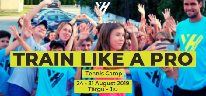"""Tabăra de tenis """"Train Like a Pro"""", organizată de Academia Victor Hănescu, ajunge la Tîrgu Jiu"""