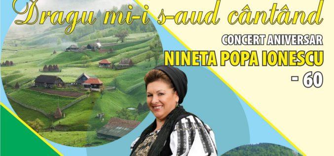 Nineta Popa Ionescu, concert extraordinar la Sala Radio, la 40 de ani de carieră!