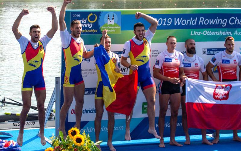 România a cucerit două medalii de argint la Campionatul Mondial de Canotaj de la Linz