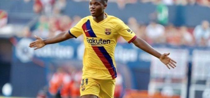 Ansu Fati a devenit cel mai tânăr marcator din istoria Ligii Campionilor