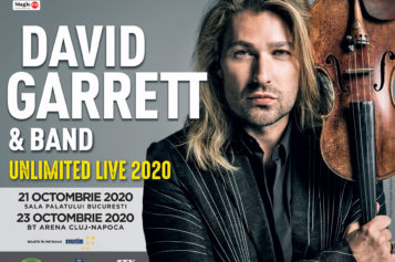 DAVID GARRETT revine în România în anul 2020, pentru două concerte fabuloase la București și Cluj-Napoca