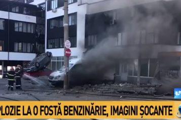 Explozie puternică la Galaţi. O benzinărie dezafectată a sărit în aer