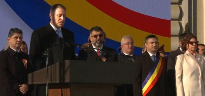 Klaus Iohannis, huiduit la Iaşi, în timpul discursului susţinut pentru Unirea Principatelor Române