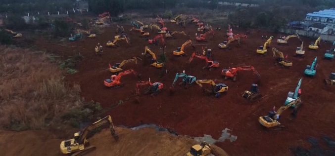 China construieşte un spital în doar 7 zile – VIDEO