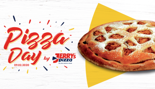 Jerry's Pizza a sărbătorit în premieră Ziua Internațională a Pizzei și a oferit mii de pizza-desert clienților
