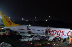 Un avion plin cu pasageri, s-a făcut praf în Istanbul. S-a rupt în trei bucăţi – VIDEO