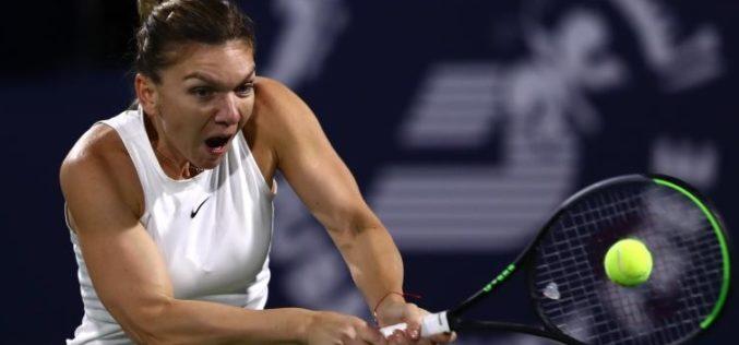 Simona Halep a început cu stângul finala de la Dubai. A pierdut primul set