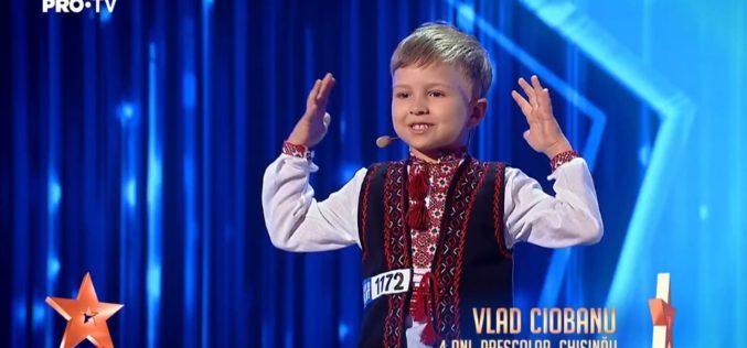 Vlad Ciobanu, puştiul minune de 4 anişori care a uimit juriul Românii au talent – VIDEO